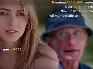 Grandad Fucks Teen Pussy She Takes Open Mouth Facial Cumshot