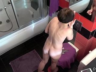 Anna in the bathroom - spy porn cam