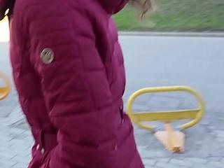 GERMAN SCOUT - Teen Gina bei Strassen Discard AO gefickt