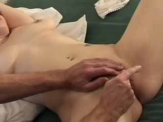 Sexy Babe With Natural Breasts and Wet Pussy Gets Orgasm Treatment