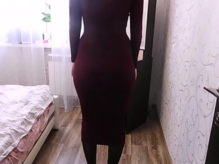Big ass young wife with doll-sized panties in tight dress