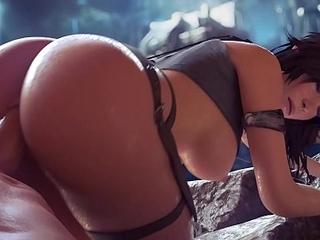 Lara Croft Dealings in Cave HD