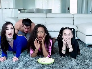 Demi Sutra Megan Winters and Bambi Black Stepbrother Towards the rear Their Night