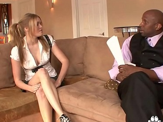 Young Sindee Shay Seduces A Black Man Into Fucking Her Wet Pussy