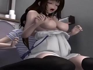 Big Boobs 3D Teen Shemales Hardsex in Bathroom