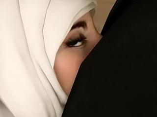 Hijab arab lolita and her ebony friend analized by pervert professor