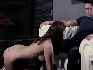 Stepbro floods Lana Rhoades pussy with his nasty cock!