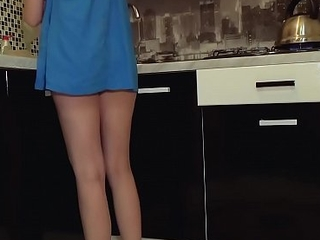 Young teen lacking in panties got caught on listen in cam