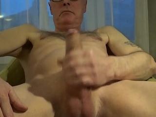 Perv Ulf Larsen wank &amp_ ejaculate in hotel