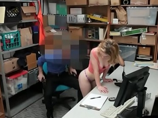 He caught two hot shoplifter chicks and fucks them both