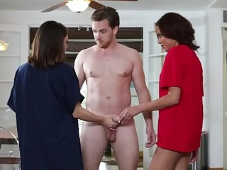 StepSiblings goes cock and face riding more than advise for of stepbro!