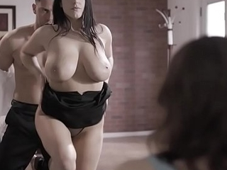 Sexy psychoanalyst Angela White cure her patients phobia by starting an intensive 3some double penetration therapy.