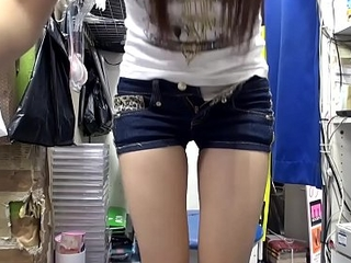 Japanese teen brunette, Mikuni Maisaki is masturbating at one's disposal work, uncensored