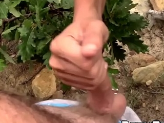 Well-versed college students suck dick and masturbate outdoors