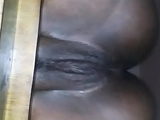 Pretty Ebony Pussy Sitting Nice On A Moderator Then Fuck And Creampie Her