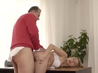 OLD4K. Ellen Jess got immersed sandbank kind gentleman helps her after sex