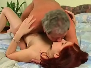 Admirable redhead bombshell Julia getting filled up by meat member