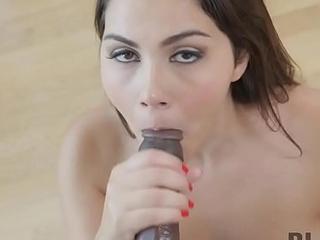 BLACK4K. Real slut Valentine seduces plumber for hawt bitches sex