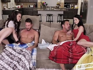 Two Hot Young Teen Fry Swap Fuck Sick Dad'_s To Give excuses Them Feel Better