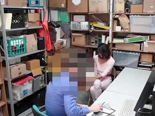 Latin babe fucked by officer for pilfering