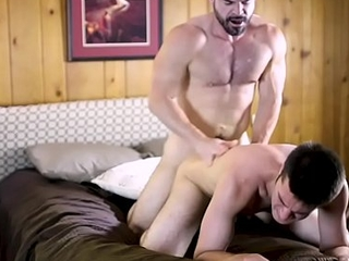 Young person fucked bareback 2x by hairy daddy satyr monster &amp_ bred