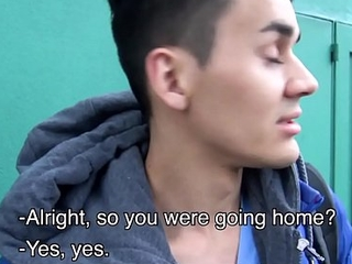 Young Amateur Latino White-headed boy Respecting Off Street And Paid To Fuck Stranger POV