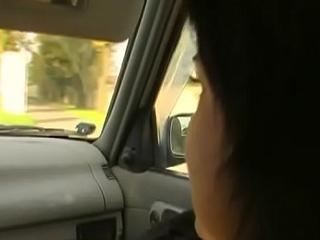 Slutty brunette Suzie blows and rides