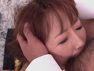 Mana Aoki is a perfect fuck doll connected with hairy pussy