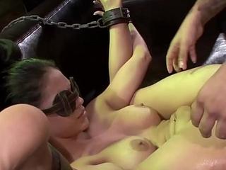 Innocent Jasmine Caro eaten up with sex machine and big dick