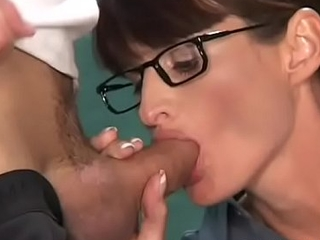 Pole railing from passionate brunette girlie Brooke with firm natural tits