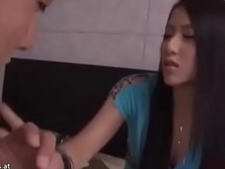Japanese teen asks random guy to fuck thither hotel
